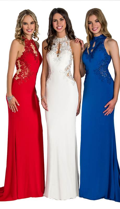 Stella Couture By Serendipity 16084  ( 1pc Jersey Mermaid Gown With Beaded Lace Bodice )