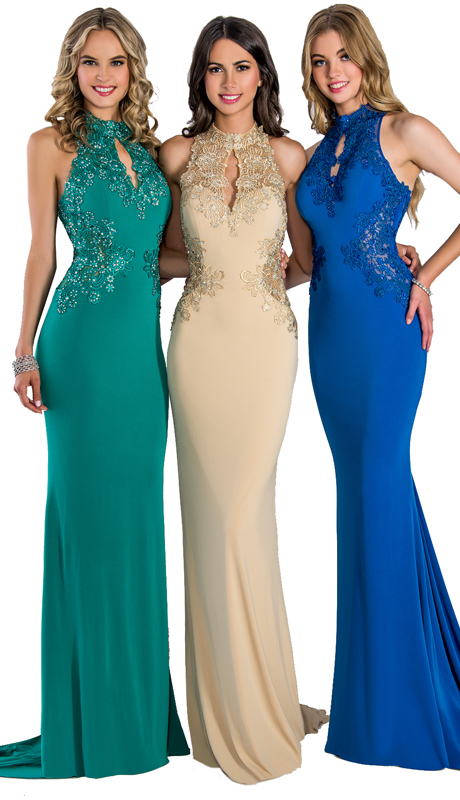 Stella Couture By Serendipity 16084-E ( 1pc Jersey Mermaid Gown With Beaded Lace Bodice )