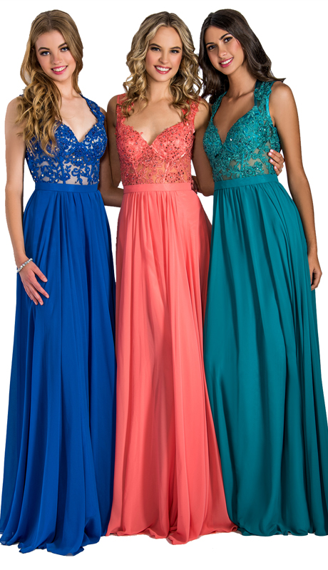 Stella Couture By Serendipity 1079 ( 1pc Chiffon With Embellished Lace Top Gown For Prom )
