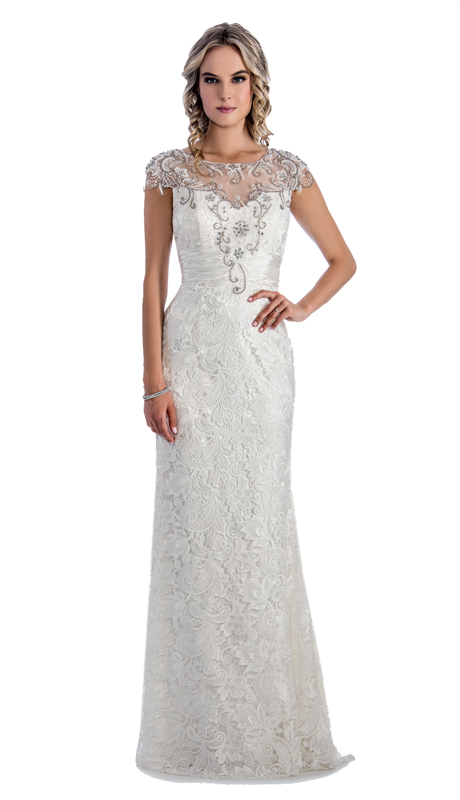 40f413cf078 Style  Stella Couture By Serendipity 1052-OW ( 1pc Neck And Back Illusion  Tulle And Lace Gown With Draped Embellished back For Special Occasion )