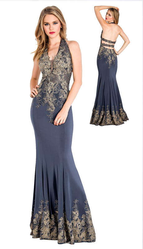Stella Couture By Serendipity 18040  ( 1pc Open Back Embellished Sequin And Beaded Mermaid Gown For Prom )