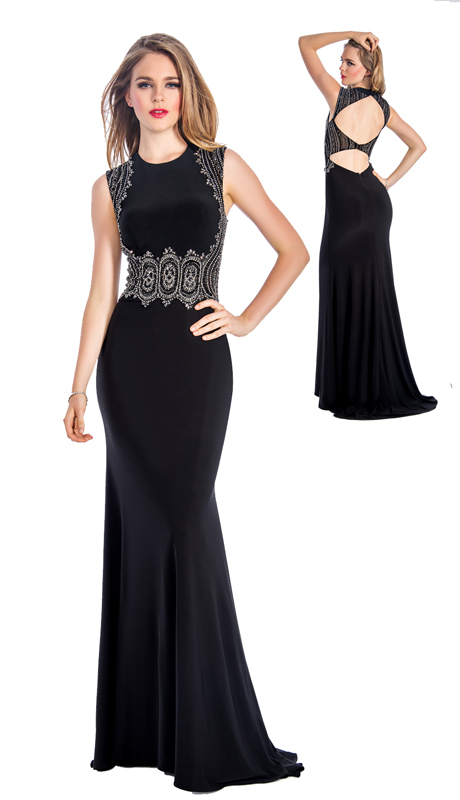 Stella Couture By Serendipity 18037-B ( 1pc Embellished Sequin And Beaded Mermaid Gown For Prom )