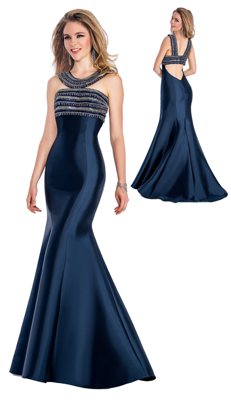Stella Couture By Serendipity 18016 ( 1pc Evening Satin Ball Gown With Embellished Top And Back Details For Special Occasion )