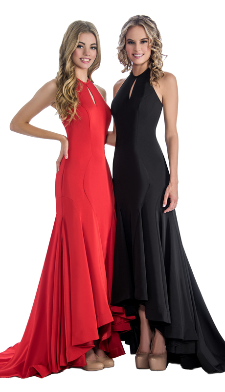 Stella Couture By Serendipity 17166  ( 1pc High Low Evening Gown With Train For The Prom )