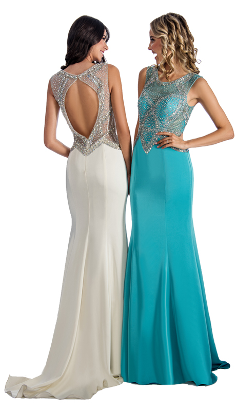 Stella Couture By Serendipity 17003 ( 1pc Embellished Open-Back Gown For Prom )