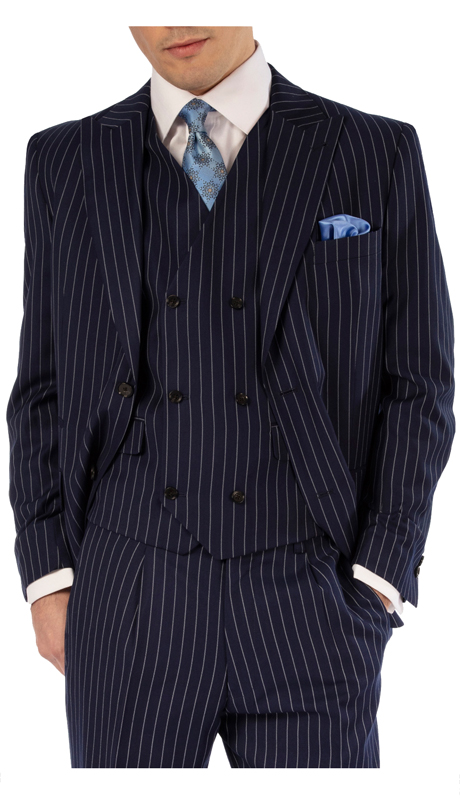 Steve Harvey 119726-NS ( 3pc Vested Suit, Super 140's )
