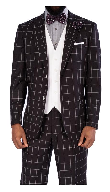 Steve Harvey 119730-BC-CO ( 3pc Suit With White Vest, Super 140's )