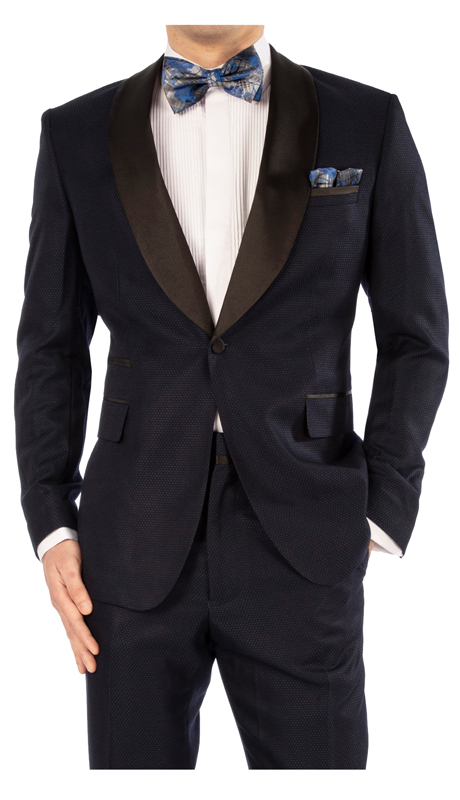 Steve Harvey 119743-NA ( Shawl Collar Suit, Super 140's )