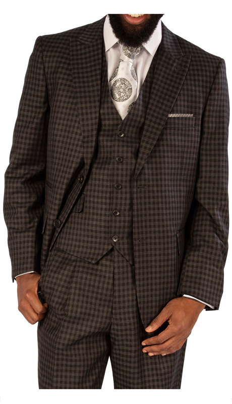 Steve Harvey 119744-BC-CO ( 3pc Vested Suit, Super 140's )