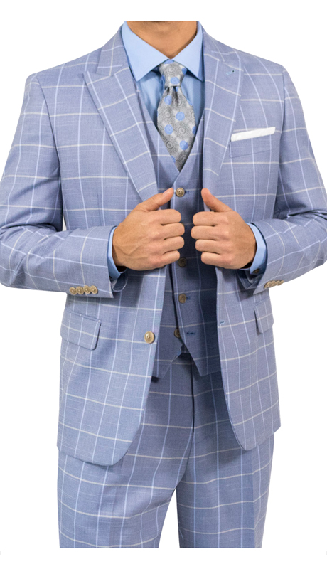 Steve Harvey 118717-BP ( 3pc Suit, Super 140's )