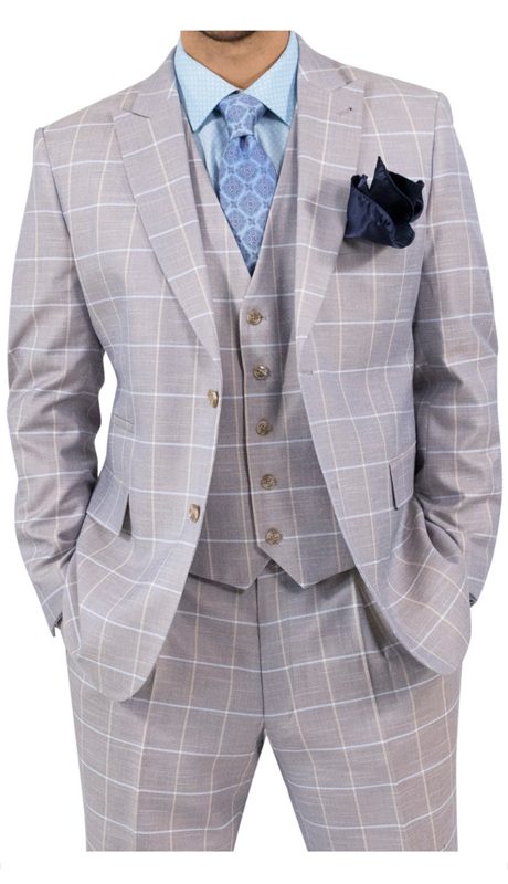 Steve Harvey 118724-TP ( 3pc Suit, Super 140's )