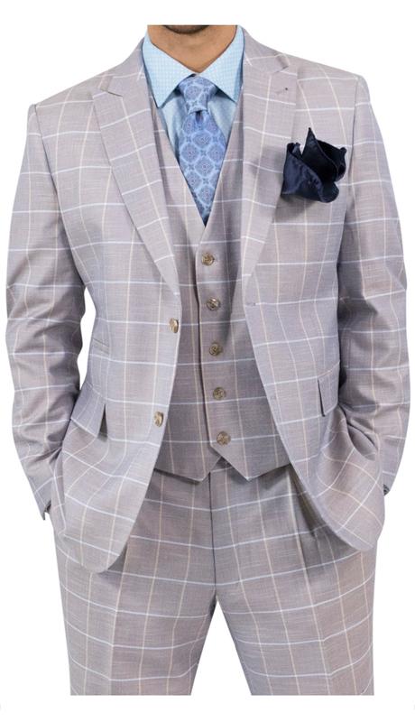 Steve Harvey 118724-TP ( 3pc Suit, Super 140's )