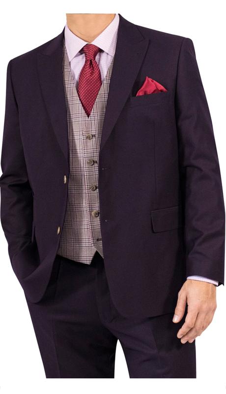 Steve Harvey 118733-EP ( 3pc Suit With Plaid Vest, Super 140's )