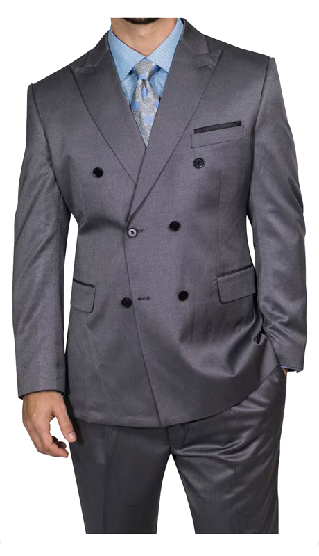 Steve Harvey 218850-GS ( 2pc Vested Suit, Super 140's )