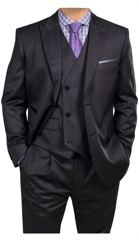 Steve Harvey 218851-BS ( 3pc Vested Suit, Super 140's )
