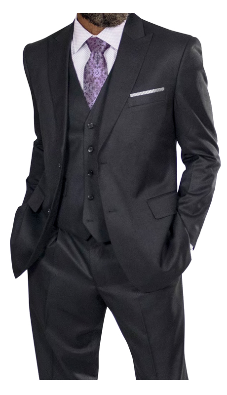 Steve Harvey 218852-BS ( 3pc Vested Suit, Super 140's )