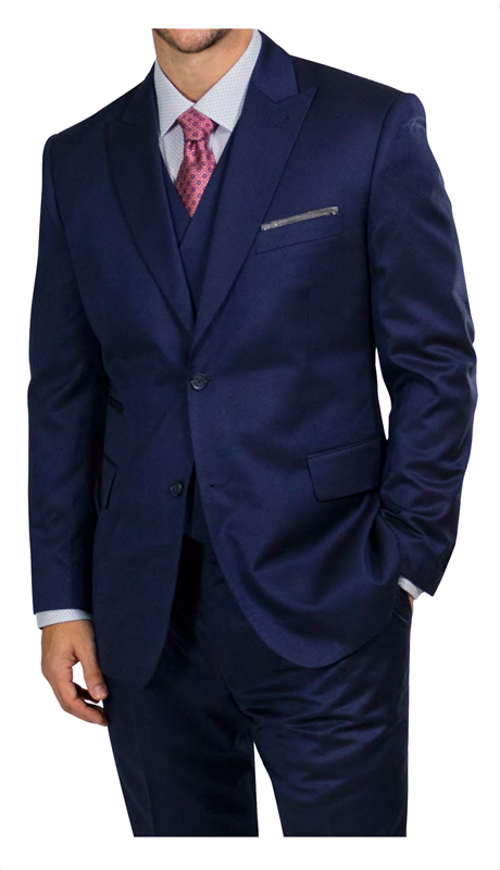 Steve Harvey 218853-BS ( 3pc Vested Suit, Super 140's )