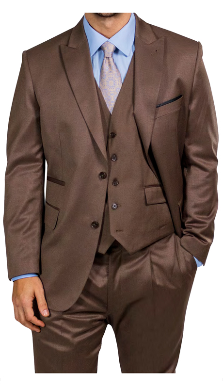 Steve Harvey 218854-BS ( 3pc Vested Suit, Super 140's )
