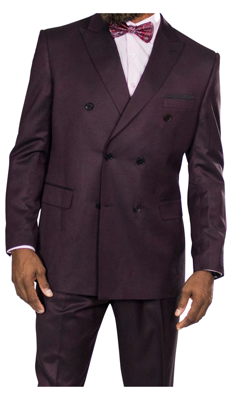 Steve Harvey 218855-ES-CO ( 3pc Vested Suit, Super 140's )