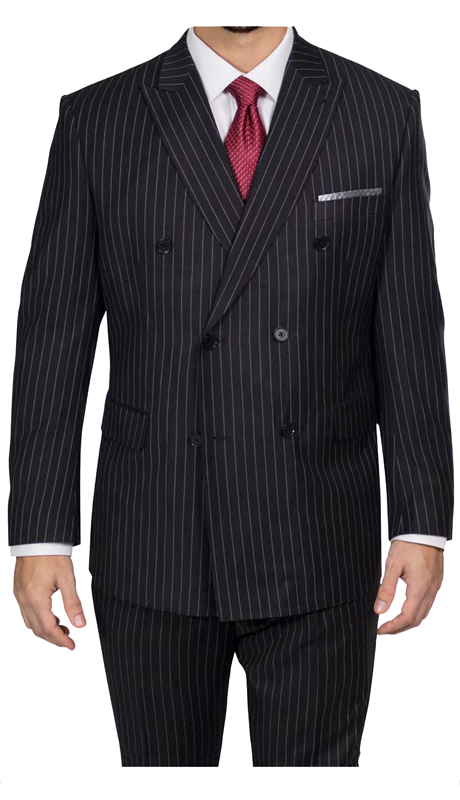 Steve Harvey 218865-BP ( 2pc Double Breasted Suit, Super 140's )