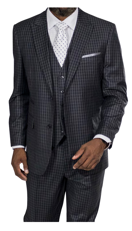 Steve Harvey 218881-BC ( 3pc Suit, Super 140's )