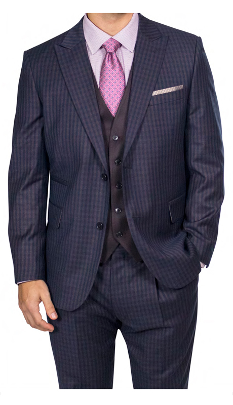 Steve Harvey 218882-BC-CO ( 3pc Suit, Super 140's )