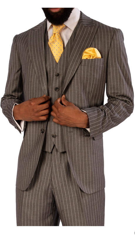 Steve Harvey 119725-BS ( 3pc Vested Suit, Super 140's )