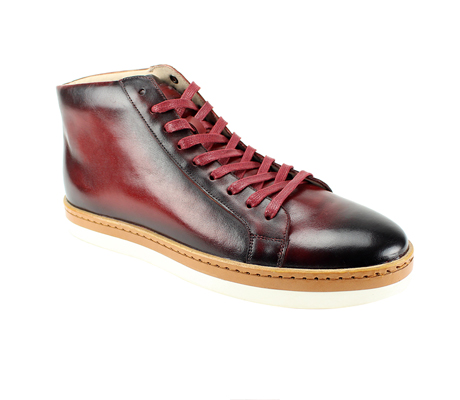 SL0044-Ruby ( Genuine Handmade Leather High Top Casual Shoe )
