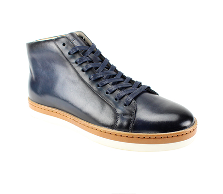 SL0044-Ink ( Genuine Handmade Leather High Top Casual Shoe )