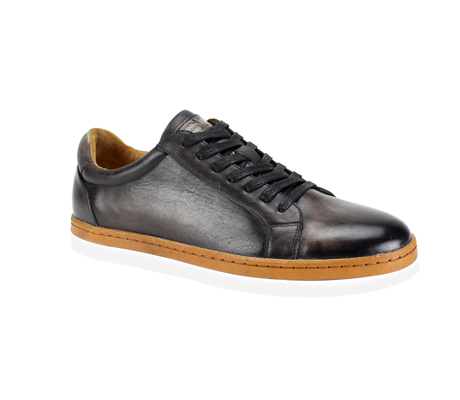 SL0047-Charcoal ( Genuine Handmade Leather Shoe With Perforated Design And Comfort Sole )