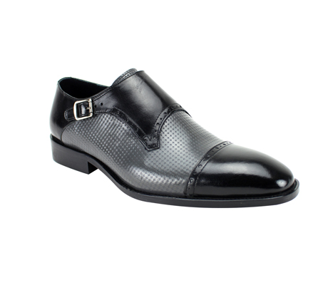SL0041-BG ( Genuine Handmade Leather With  Monk Strap, And Perforated Middle )