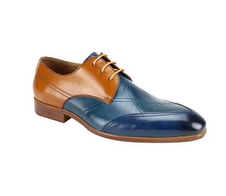 SL0040-NT ( Tri Tone Handmade Genuine Leather Shoe )