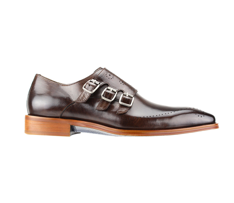 SL0027-Brown ( Polished Genuine Handmade Leather With Monk Buckle Strap )