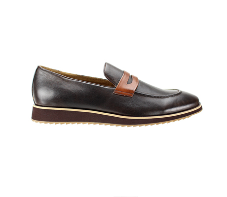 SL0048-Chocolate ( Genuine Handmade Leather Slip On Shoe With Comfort Sole )