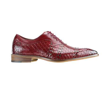 SL0022-Red ( Genuine Handmade Leather With An Elegant Accent Weave )