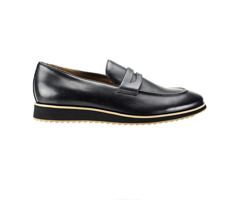 SL0048-Black ( Genuine Handmade Leather Slip On Shoe With Comfort Sole )