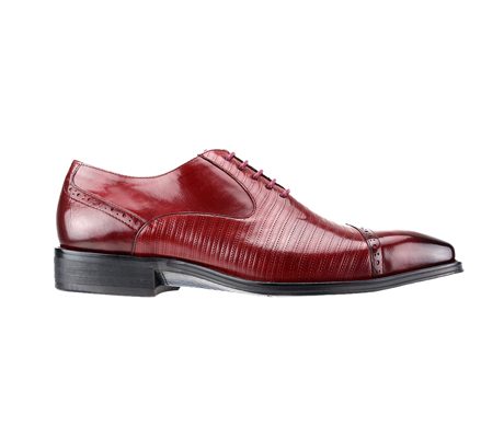 SL0018-Red ( Genuine Handmade Leather Cap Toed Oxford With Perforated Mid Section )