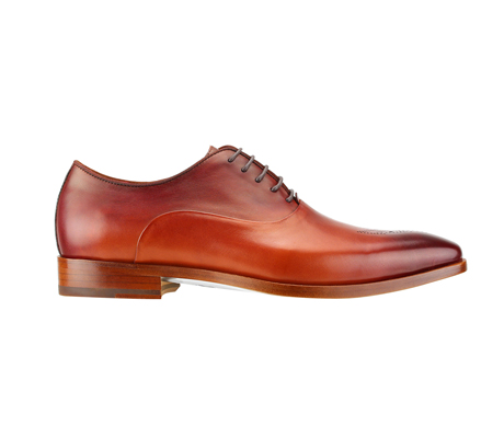 SL0017-Terracotta ( Burnished Genuine Handmade Leather With Elegant Tapered Toes )