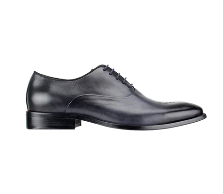 SL0017-Onyx ( Burnished Genuine Handmade Leather With Elegant Tapered Toes )