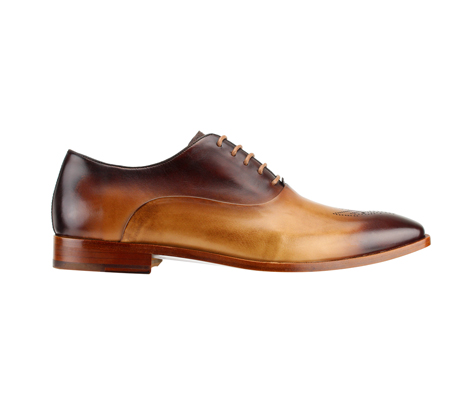 SL0017-Tan ( Burnished Genuine Handmade Leather With Elegant Tapered Toes )