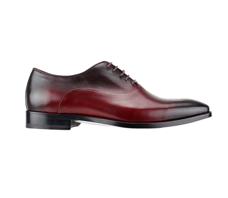 SL0017-Bordeaux ( Burnished Genuine Handmade Leather With Elegant Tapered Toes )