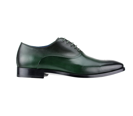 SL0017-Alpine Green ( Burnished Genuine Handmade Leather With Elegant Tapered Toes )
