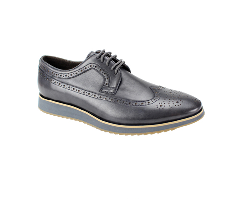 SL0047-Gray ( Genuine Handmade Leather Shoe With Perforated Design And Comfort Sole )