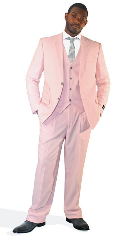 Steven Land Mens Suits Francis-SL2014 ( 3 Piece, 100% Wool, Solid Color, 2 Button, 2 Button, Double Vents, 3 Flap Pockets, Vest And Pleated Pant, Shoes SL0005-GRA )