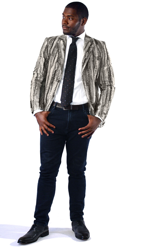 Steven Land Mens Blazer Fabio-SL77-800 ( 1 Piece Jacket With Textured Pattern, Notch Lapel, 2 Button, 2 Flap Pockets And Double Vents )