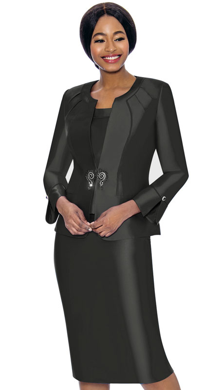 Terramina 7725-BL ( 3pc Silk Look Womens Sunday Suit )