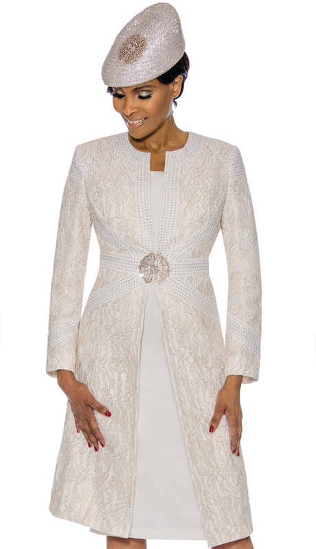 Susanna 3895-OW ( 2pc Brocade Ladies Church Dress With Duster Jacket )