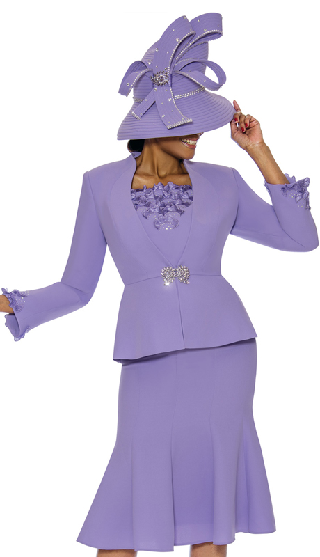Susanna 3890-LA ( 3pc PeachSkin Womens Church Suit )