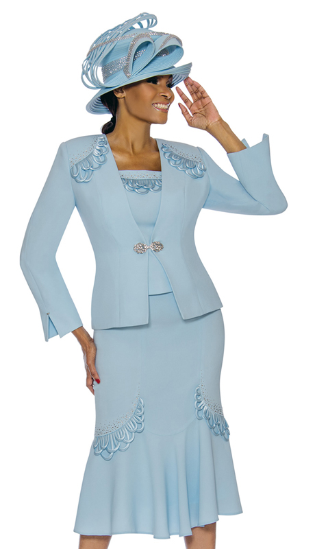 Susanna 3886-BB ( 3pc PeackSkin Womens Church Suit )