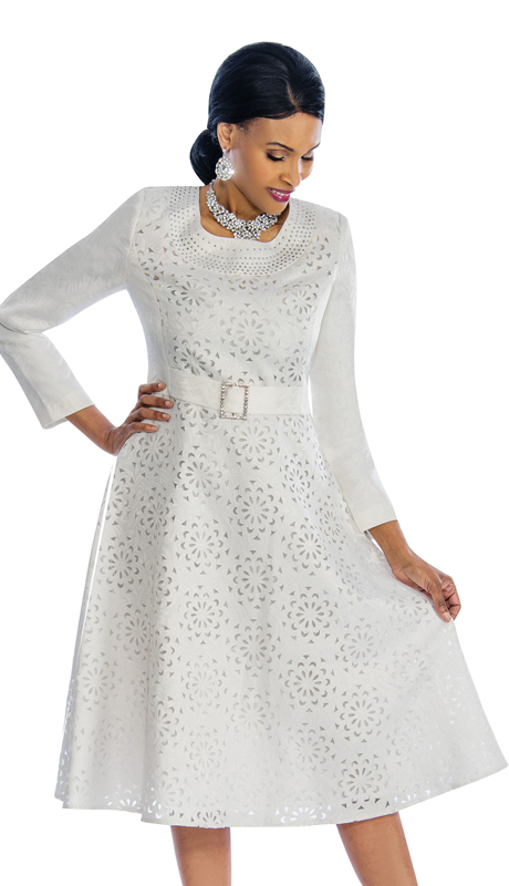 Susanna 3777-OW ( 1pc Novelty Dress For Church With Cutout Detail )